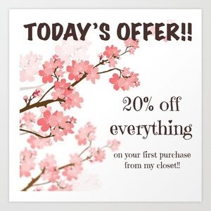 ❗️Today's offer is for the new buyers to my closet